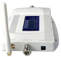900+2100MHz Усилитель мобильной связи, Репитер GSM+3G WCDMA  65dB GSM wcdma LTE с двойной антенной.