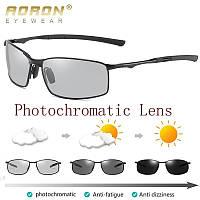 Очки солнцезащитные фотохромные прямоугольные AORON HD559