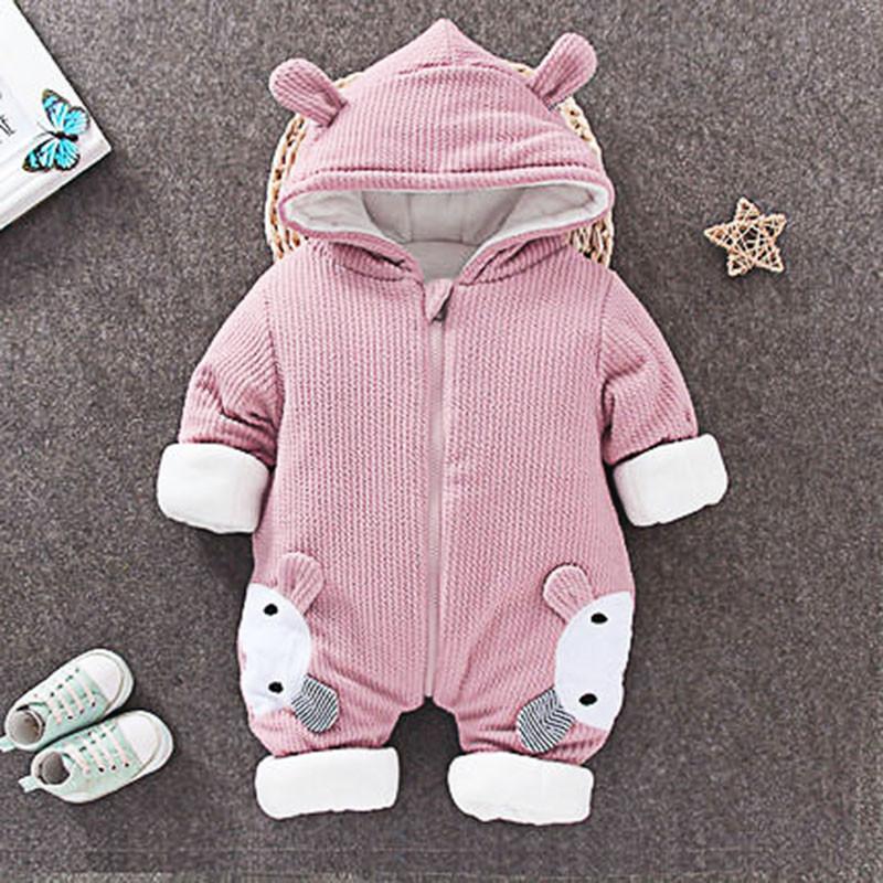 Детский мягкий утеплённый комбинезон с капюшоном  Мишка (рост 66 см)