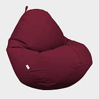Кресло мешок Овал Beans Bag Оксфорд Стронг 85*105 см Цвет Бордо