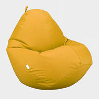 Кресло мешок Овал Beans Bag Оксфорд Стронг 90*130 см Цвет Желтый