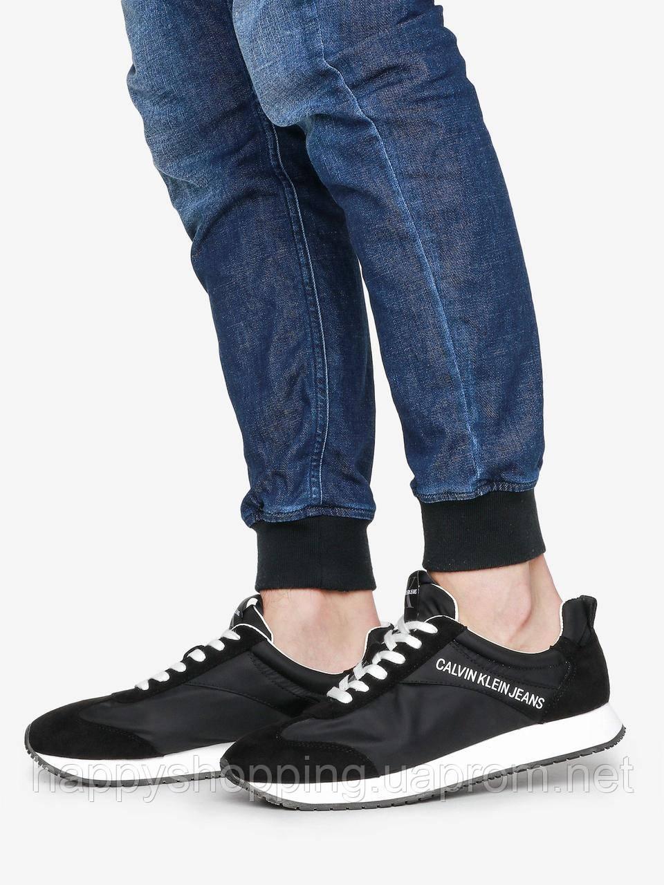 """Мужские оригинальные черные кроссовки """"Jerrold"""" Calvin Klein Jeans, фото 1"""