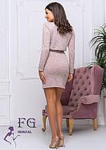 Полуприталенное демисезонное платье выше колен черное, фото 3