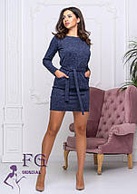 Полуприталенное демисезонное платье выше колен черное, фото 2