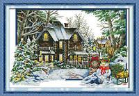 Набор для вышивания крестом Сезон Зима 68х48