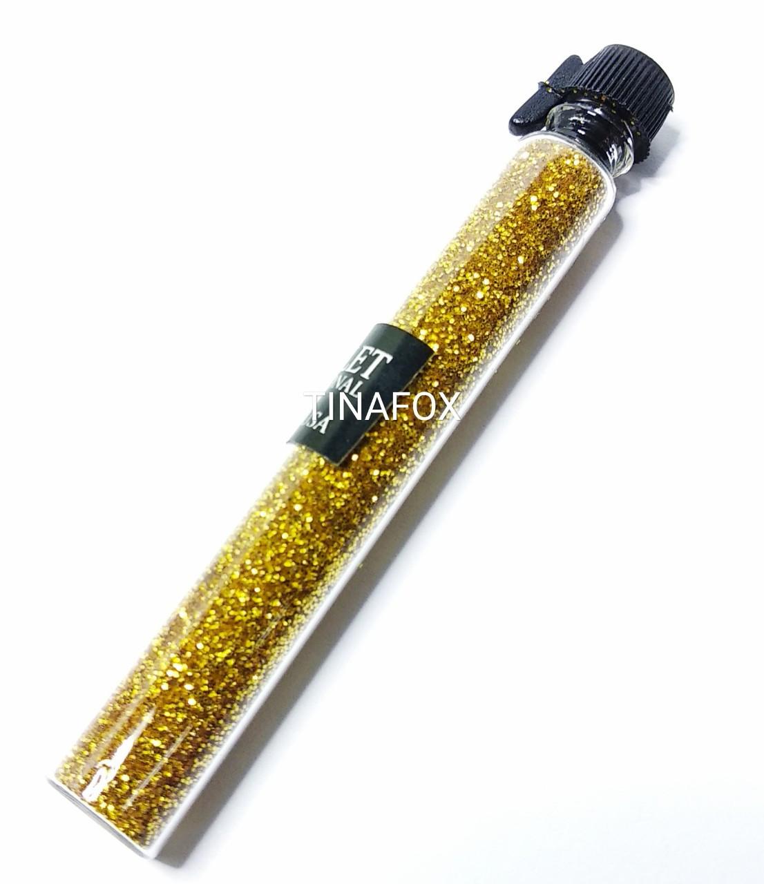 Блестки (песок) для украшения ногтей в пробирке Starlet Professional, Золото