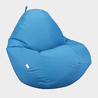 Кресло мешок Овал Beans Bag Оксфорд Стронг 90*130 см Цвет Голубой