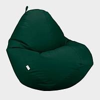 Кресло мешок Овал Beans Bag Оксфорд Стронг 90*130 см Цвет Темно Зеленый