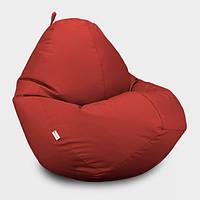 Кресло мешок Овал Beans Bag Оксфорд Стандарт 85*105 см Цвет Красный
