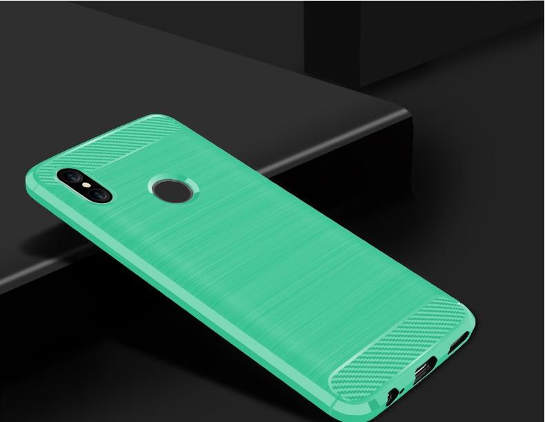 Чехол Carbon для Xiaomi Redmi Note 5 / Note 5 Pro Мятный
