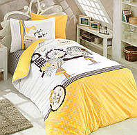 Комплект постельного белья  Hobby поплин размер полуторный Smile желтый