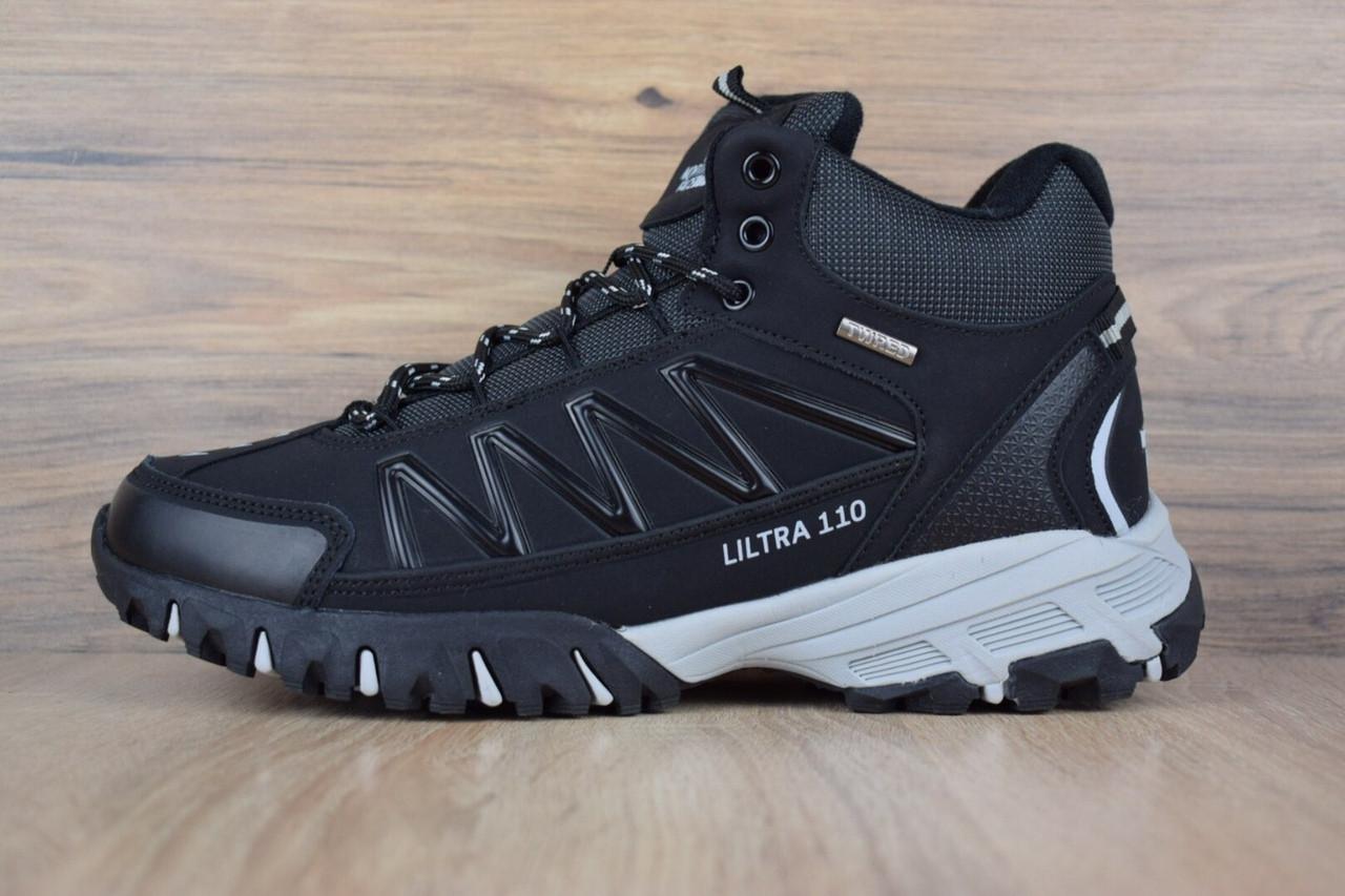 """Зимние ботинки на меху The North Face Ultra 110 """"Черные / Белые"""""""