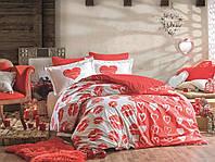 Комплект постельного белья  Hobby поплин размер евро Love me