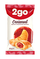 """Круассан """"2GO"""" с клубничной начинкой 60г"""