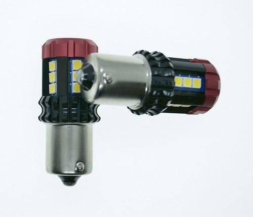 Светодиодная лампа 6U18 - 1156 / BA15S 9-60V белая 950 Люмен, фото 2