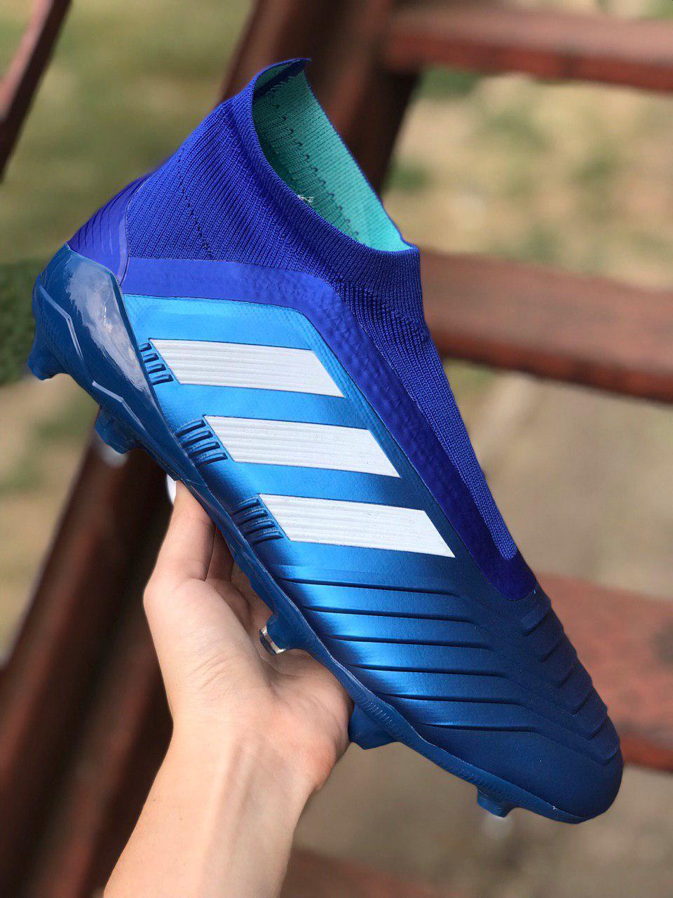 Бутсы Adidas Predator 18+FG/адидас предатор без шнурков (реплика) 5511