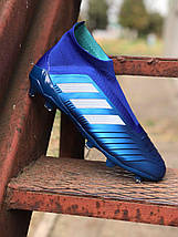 Бутсы Adidas Predator 18+FG/адидас предатор без шнурков (реплика) 5511, фото 3
