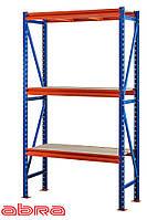 Стеллаж металлический для склада/магазина/гаража SN 2500х1230х800, покрашенный, 4 полки ДСП, до 1100 кг/ярус
