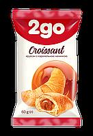 """Круассан """"2GO"""" с карамельной начинкой 60г"""