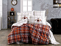 Комплект постельного белья  Hobby поплин размер евро Adalia красная
