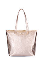 Золота шкіряна сумка Secret, фото 1
