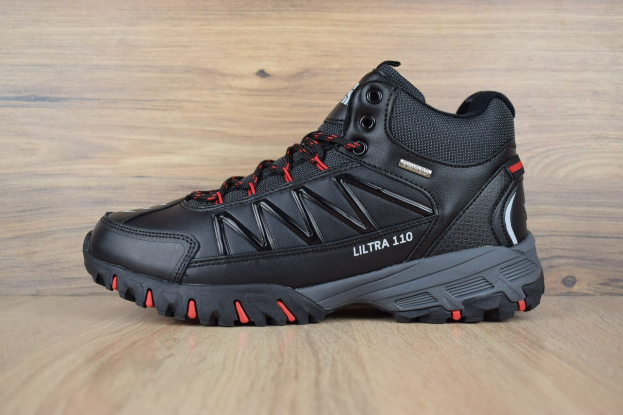 """Зимние ботинки на меху The North Face Ultra 110 """"Черные / Красные"""""""