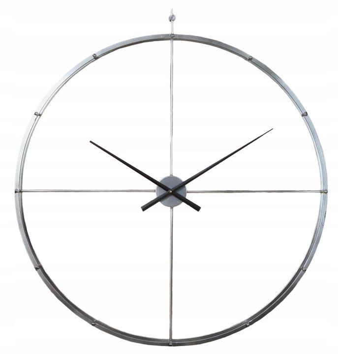 Часы настенные металлические в стиле лофт -  Silver 92 см