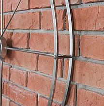 Часы настенные металлические в стиле лофт -  Silver 92 см, фото 2