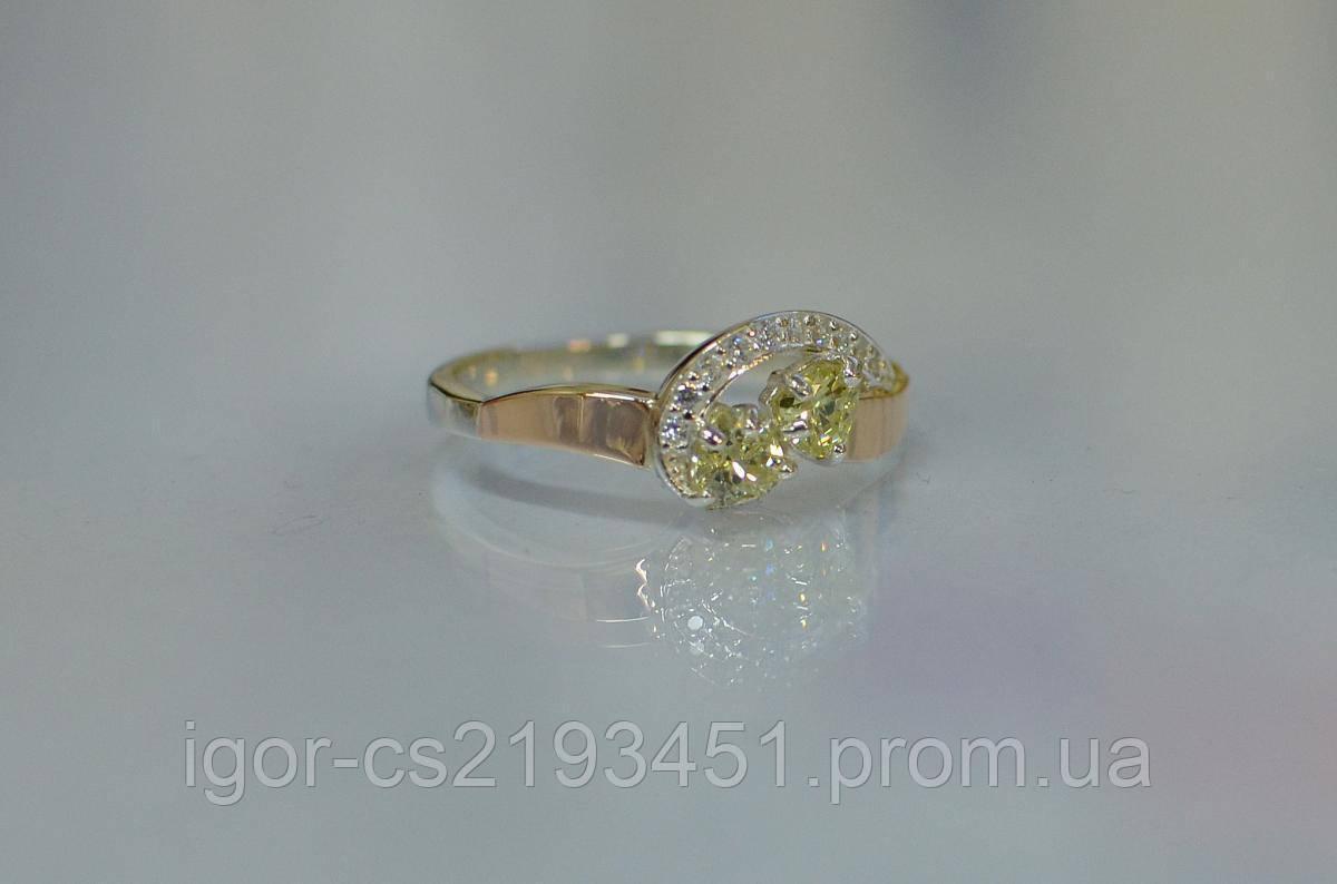 Серебряное кольцо с серцами