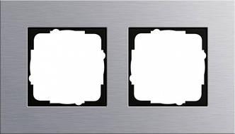 Gira 021217 Рамка установочная 2 поста Gira Esprit алюминий