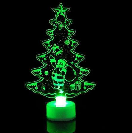 Настольный светильник ночник Елочка новогодняя