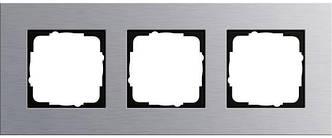 Gira 021317 Рамка установочная 3 поста Gira Esprit алюминий