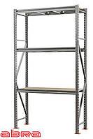 Стеллаж металлический для склада/магазина/гаража SN 2000х1230х800, оцинкованный, 3 полки ДСП, до 1100 кг/ярус