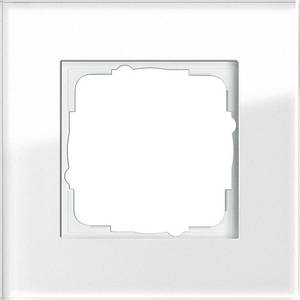 Gira 021112 Рамка установочная 1 пост Gira Esprit белое стекло
