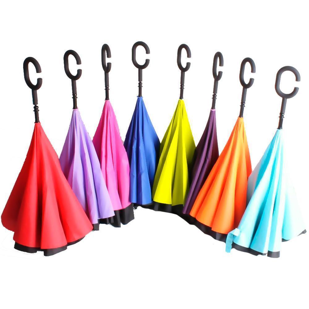 Зонтик одноцветной обратного сложения As Seen On TV