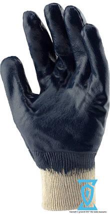 Перчатки рабочие КЩС синие вязанный манжет 10.5 (SIGMA), фото 2