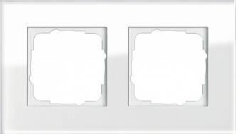 Gira 021212 Рамка установочная 2 поста Gira Esprit белое стекло