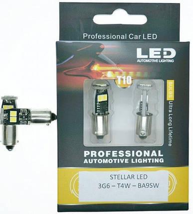 LED лампа STELLAR в габариты стопы повороты 3G6- Т4W-BA9SW CanBus (1шт), фото 2