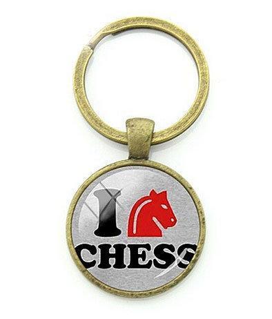Брелок Шахматы для ключей I love chess