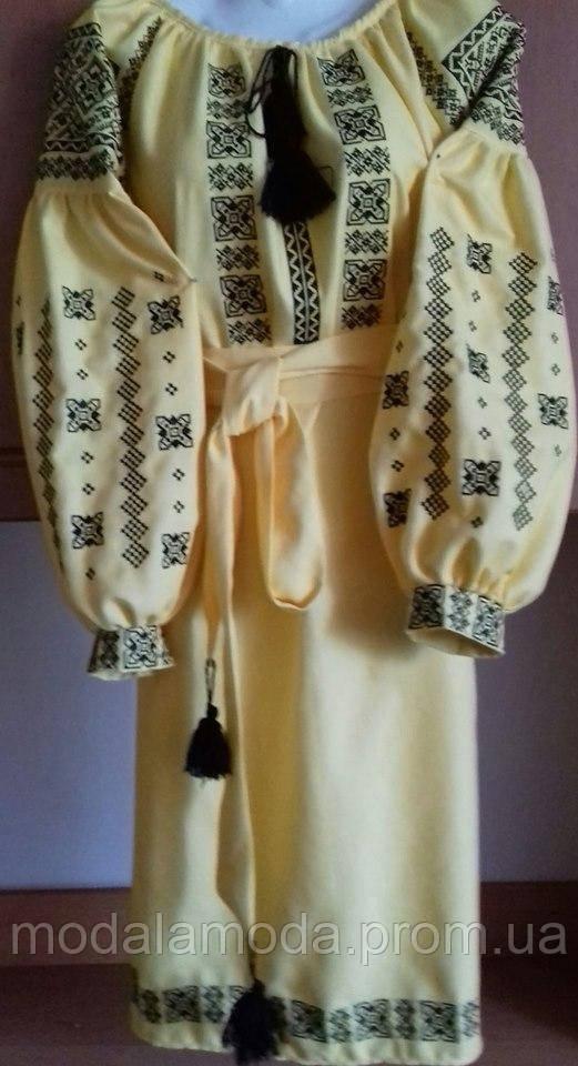 Платье с вышивкой женское