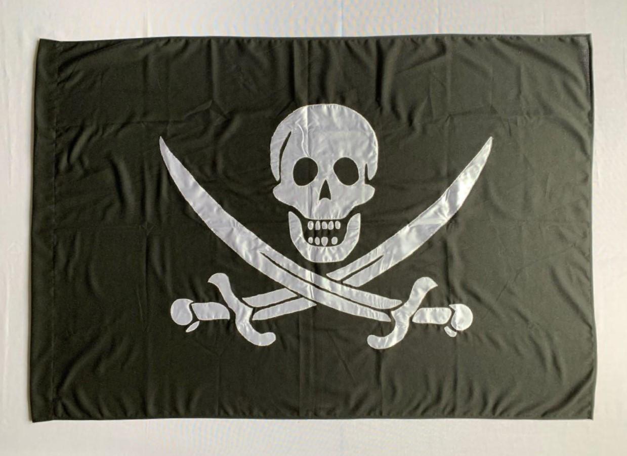 Пиратский флаг Калико Джека (Аппликация) - (1м*1.5м)