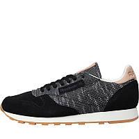 Мужские замшевые кроссовки Reebok Classics Mens Classic Leather EBK (BS6236) черные оригинал