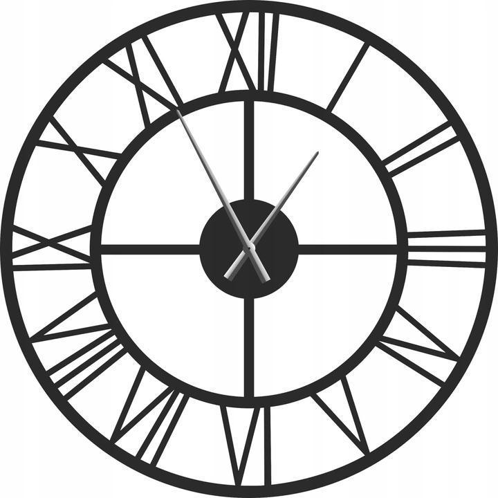 Часы настенные металлические в стиле лофт -  Roma 100 см