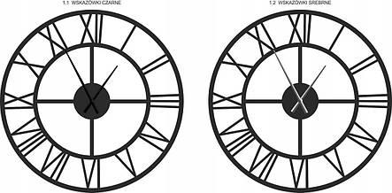 Часы настенные металлические в стиле лофт -  Roma 100 см, фото 2