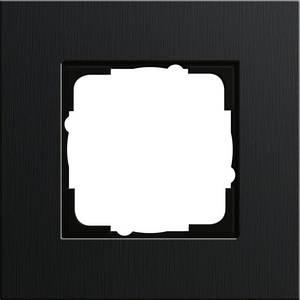 Gira 0211126 Рамка установочная 1 пост Gira Esprit черный алюминий
