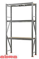 Стеллаж металлический для склада/магазина/гаража SN 2000х1535х700, оцинкованный, 3 полки ДСП, до 950 кг/ярус