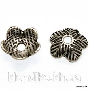 Обниматели для бусин, металл, 7 мм (25 шт.)