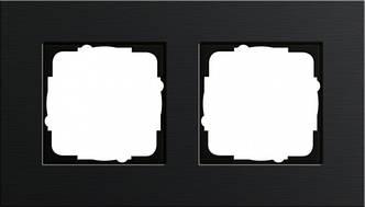 Gira 0212126 Рамка установочная 2 поста Gira Esprit черный алюминий
