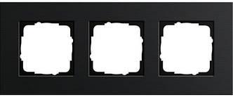 Gira 0213126 Рамка установочная 3 поста Gira Esprit черный алюминий