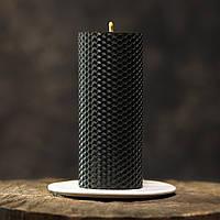 Свеча из пчелиного воска, черная